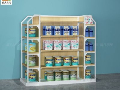 母婴店货架:单组中岛柜