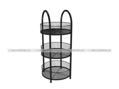 伶俐货架—三层圆网桶
